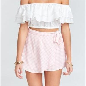 The great wrap shorts strawberry shortcake gingham